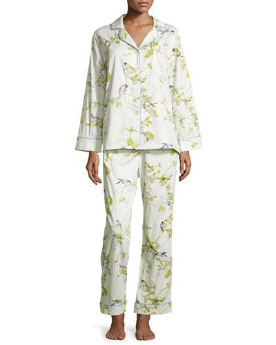 Winter Cardinal Classic Pajama Set, Birds and Branches
