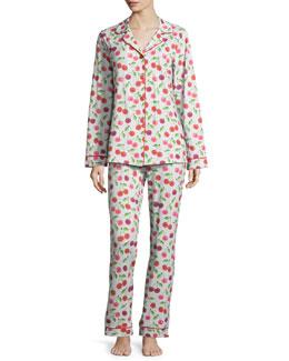 Sweet Cherry Printed Classic Pajama Set