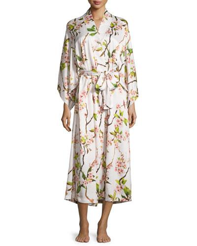 Blossom Long Robe, Petal Pink