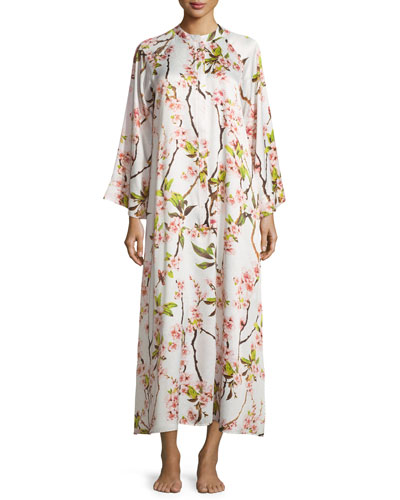 Blossom Zip-Up Caftan Dress, Petal Pink