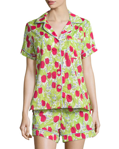 Rouge Holland Tulip-Print Short Pajama Set
