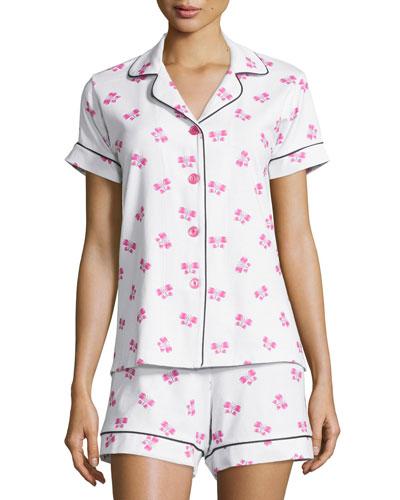 Butterfly-Print Short Pajama Set