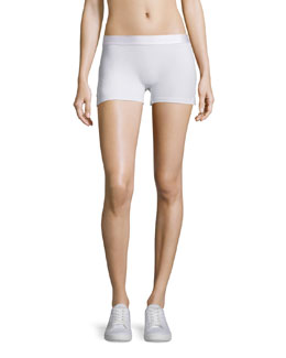 Booty Boost Solid Sport Shorts, White