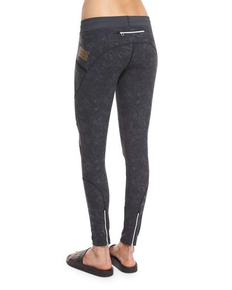 Textured Biker Leggings