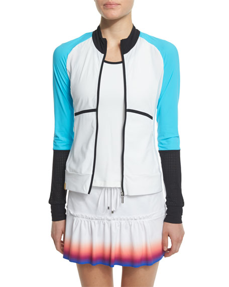 Monreal London Featherweight Colorblock Zip-Up Sport Jacket,