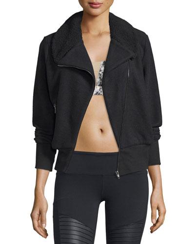 Tempest Asymmetrical-Zip Fleece Sport Jacket