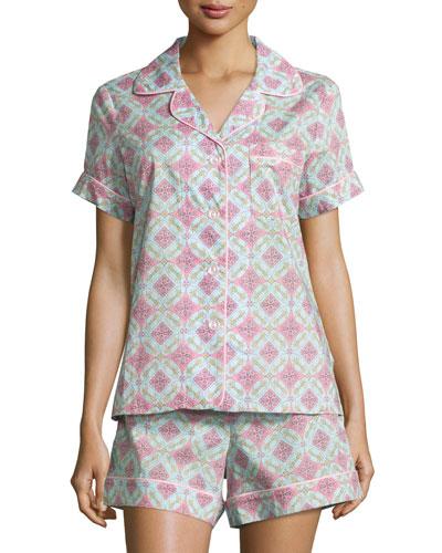 Rock The Casbah Printed Shorty Pajama Set