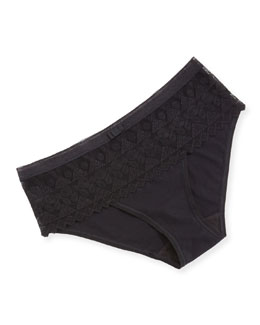 Purity Mesh Bikini Briefs, Black