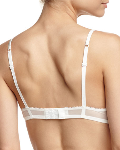 Windflower Push-Up Bra, White