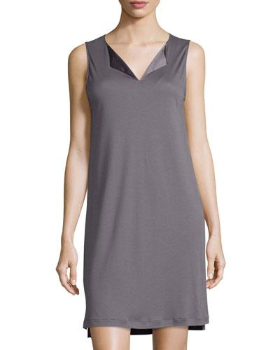 Adriana Tank Nightgown, Warm Gray