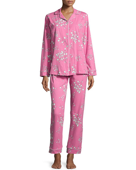 Bedhead Bouquet-Print Pajama Set, Pink Flower