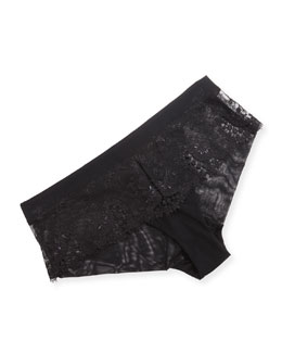 Wish Lace Boyshort, Rouge