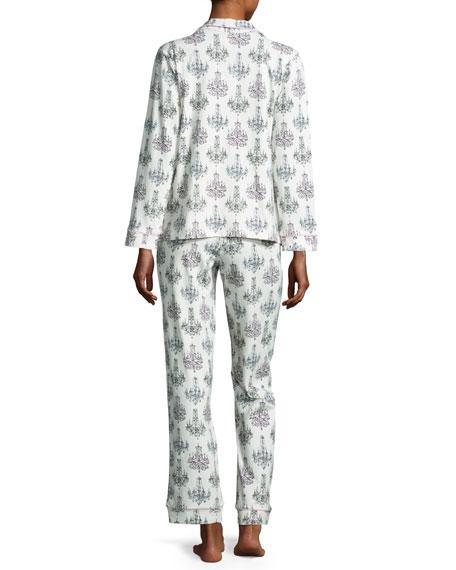 Print Classic Pajama Set, Chandelier Damask