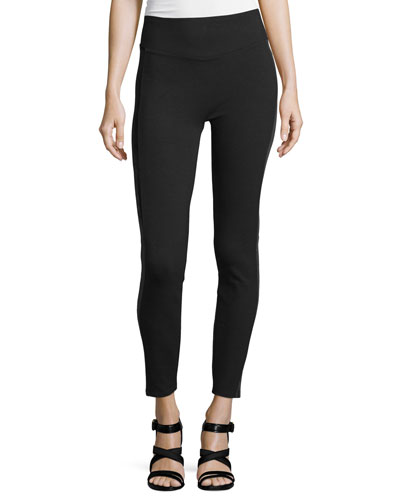 Ponte Velvet Leggings, Very Black