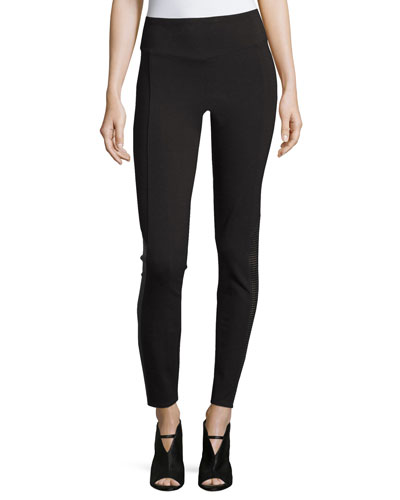 Perforated Panel Leggings, Very Black