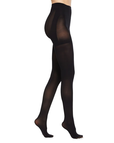Spanx Luxe Sheer Bootyfull Tights, Very Black