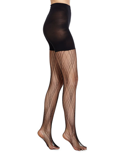 Plaid Lace Tights  Very Black