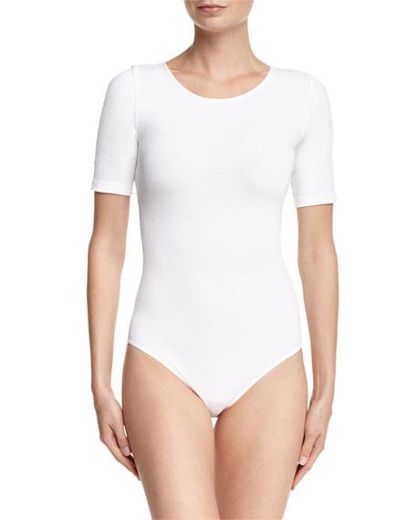 Bahamas Short-Sleeve Bodysuit, White