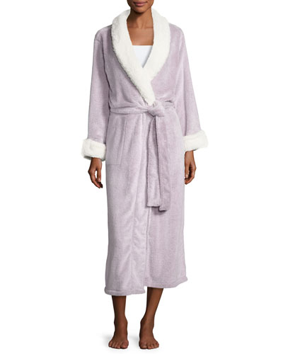 Sherpa Long Lounge Robe, Lavender