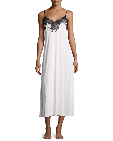 14acd328f5a Natori Enchant Lace-Trimmed Long Chemise