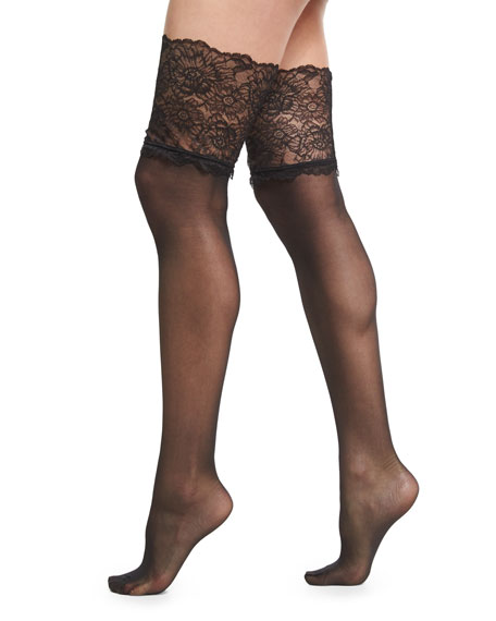 Wolford Lace-Filigree Stay-Up Thigh-High Stockings