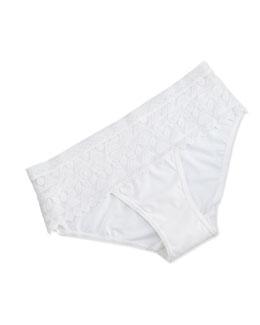 Purity Mesh Bikini Briefs, White