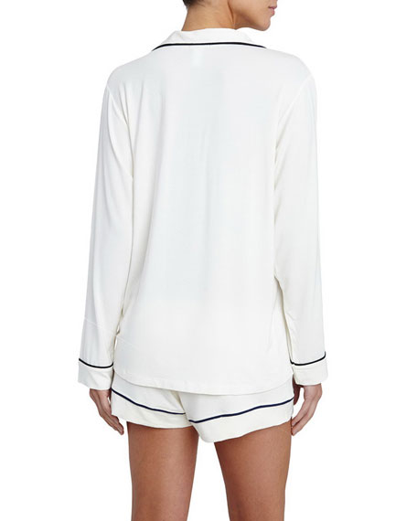 Gisele Long-Sleeve Short Pajama Set