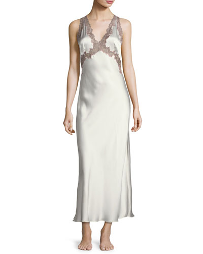 Lillian Long Silk Nightgown