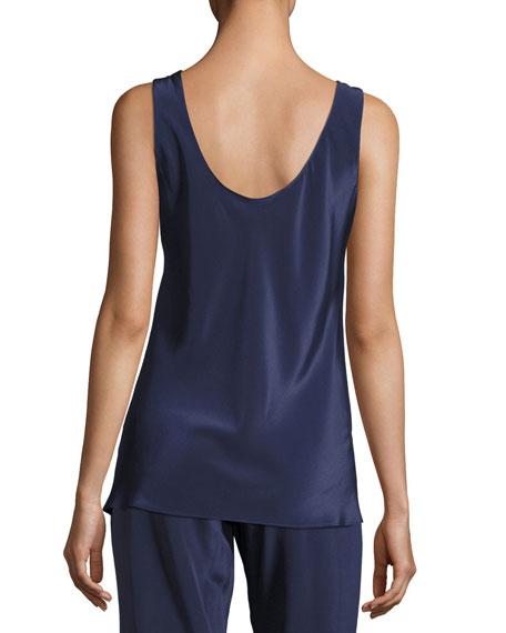 Opal Silk Camisole Top, Dark Blue