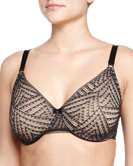 Illusion Molded Full-Coverage Lace Bra