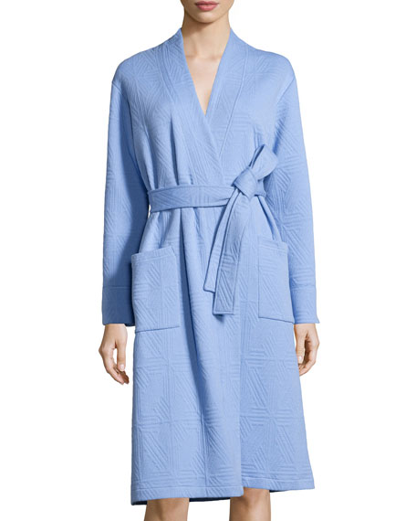 Long-Sleeve Jacquard Robe