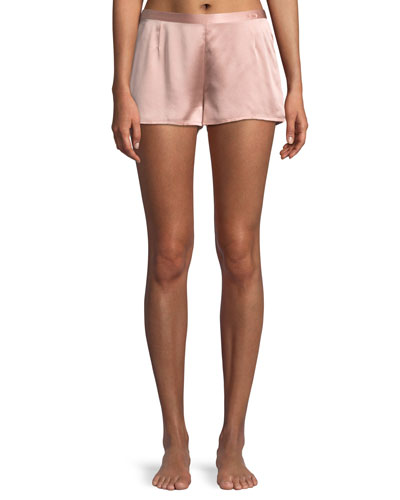 Silk Side-Button Lounge Shorts