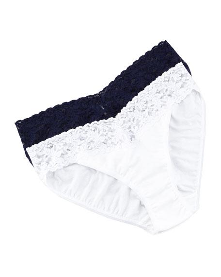 Signature Lace Organic Cotton V-Kini Panties, Basic Colors