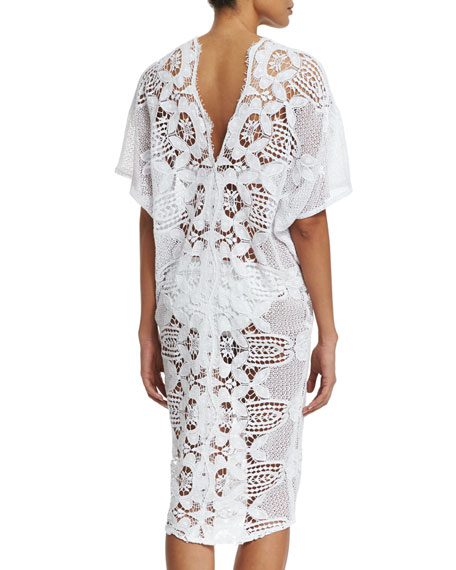 Kate Cotton Crochet Coverup Dress