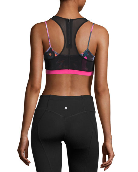 Tempest Rose Acro Layered Sports Bra, Multicolor