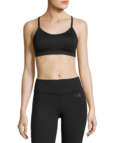 Motivation Strappy Mid-Impact  Sports Bra, Black