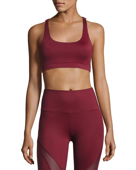 Camwood Racerback Sports Bra, Dark Red