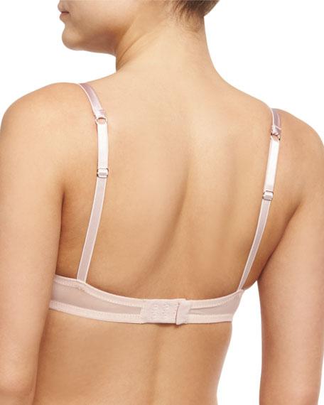 LA Ballerine Lace Balconette Bra, Pink