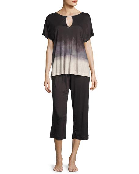 Hanro Amelie Culotte Pajama Set, Multi Pattern