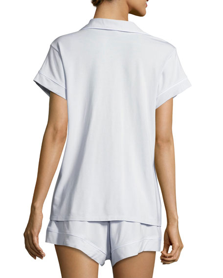 Gisele Short Pajama Set, Light Blue