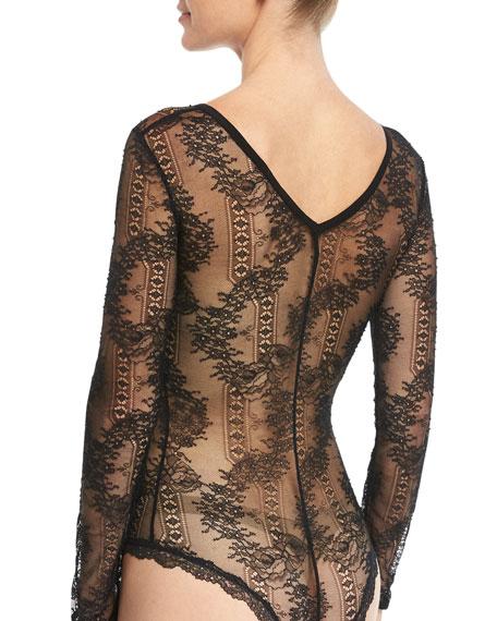 Lace Frills Bodysuit