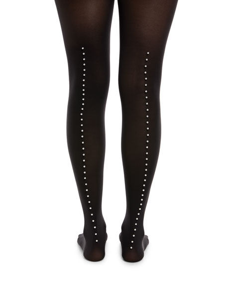 Mother-of-Pearl Back-Seam Tights