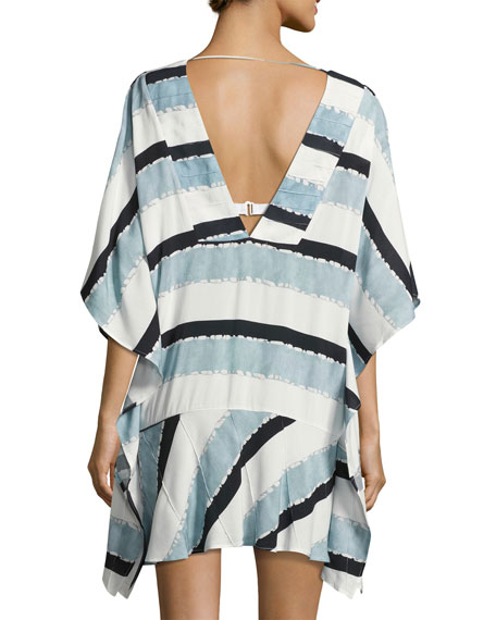 Vix Sea Glass Swim-Coverup Caftan, Blue