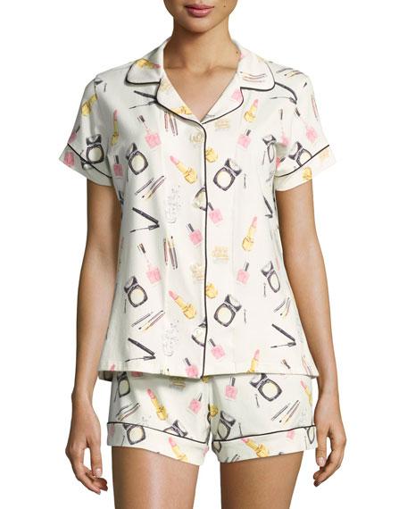 Makeup Party Shortie Pajama Set