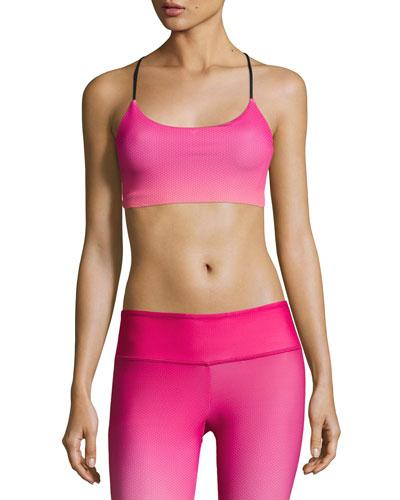 Graphic Vinyasa Sports Bra, Pink