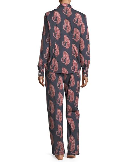 Tiger-Print Classic Pajama Set