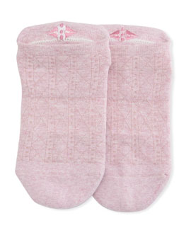 Cotton Candy Grip Savvy Athletic Socks, Light Pink