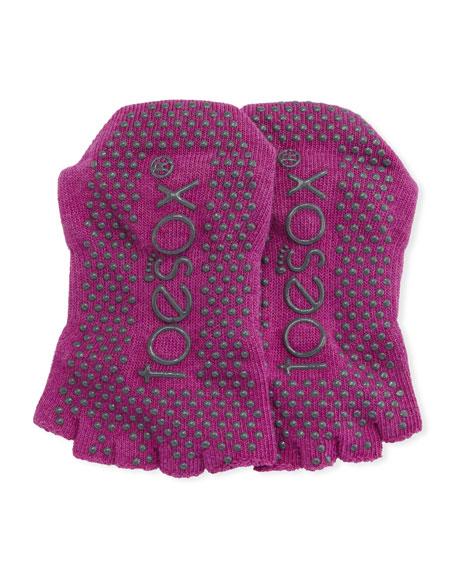 Bella Sangria Grip Half Toe Athletic Socks, Dark Pink