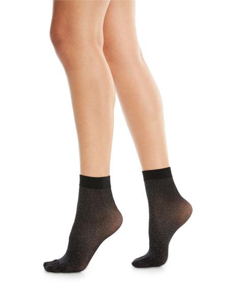 Metallic-Knit Crew Socks