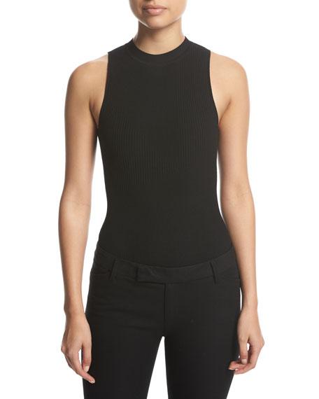 Sleeveless Lace-Back Bodysuit